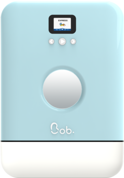 Bob le mini lave vaisselle Bleu glaçier vue de face corps blanc
