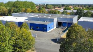 Daan Tech usine à Cugand en Vendée vue pris en drone