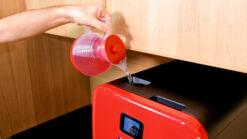 Bob mini lave vaisselle Made in France Daan Tech Premium Pack Edition Rouge remplissage réservoir intégré avec Bob carafe lave-vaisselle autonome