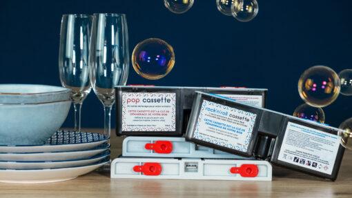 Bob mini lave vaisselle Made in France Daan Tech Premium Pack inclus dans la commande compilation Bob cassette pop et rock'n'roll détergent pour lave-vaisselle