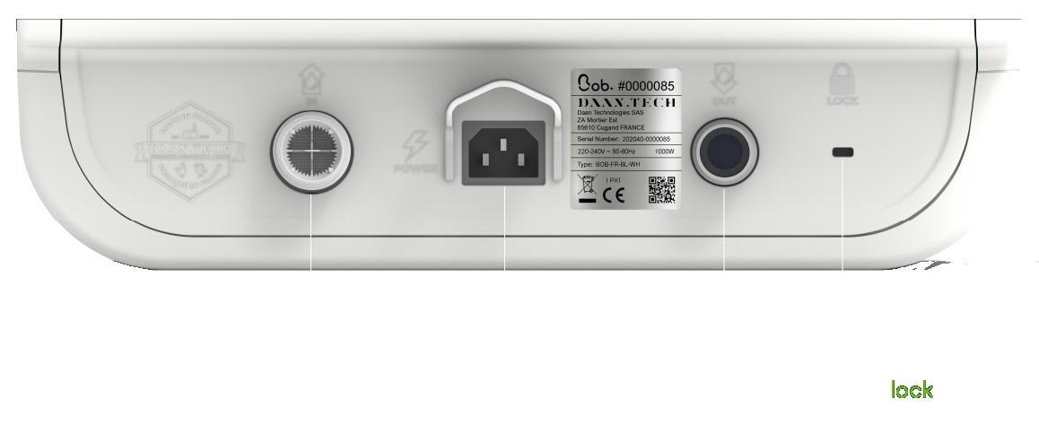 Connectique Bob mini lave vaisselle
