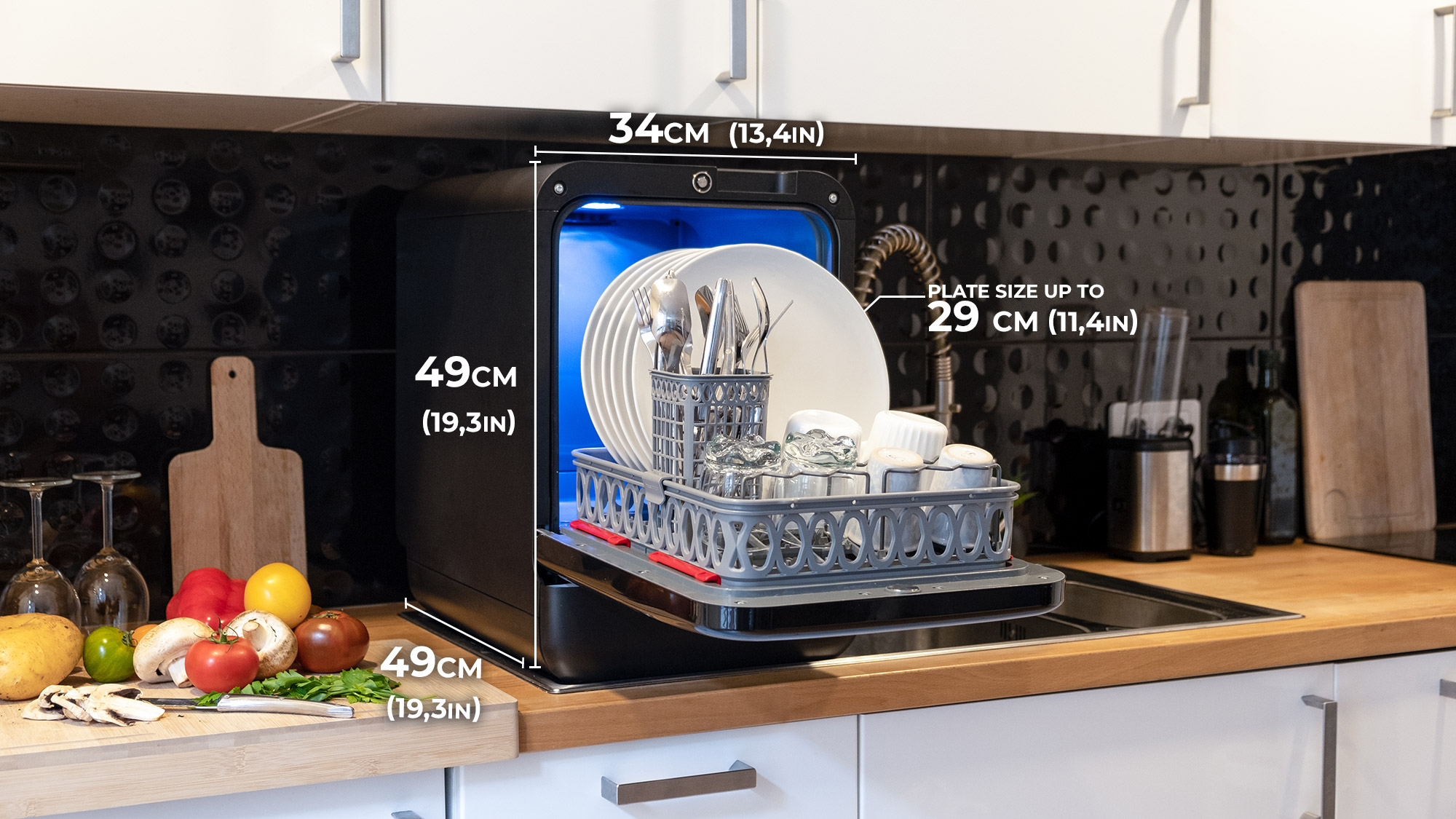 Dimension ok Bob the mini dishwasher